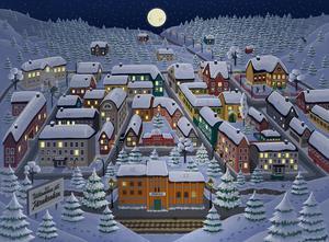 Marja Nybergs illustration av årets julkalender.