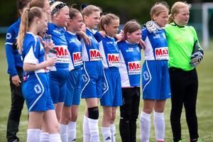 Återväxten inom tjejfotbollen har varit stor under några år. I dag är fem Nynäslag i seriespel. Foto: Fredrik Lundberg