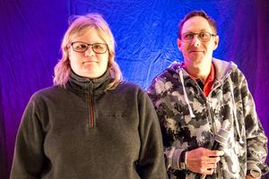 Kompisarna Anna Nordin och Andreas Sundberg deltar i Funkisfestivalen som arrangeras av Gävle kommun, Region Gävleborg och Medborgarskolan.
