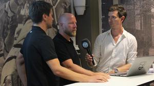 Thomas Paananen och Patrik Zetterberg i Sportens #sillyfriday tidigare i somras.