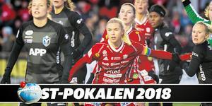 Ellen Löfqvist slåss med Otto Wallin (boxning), Anton Eriksson (rally), Elias Pettersson (ishockey), Anna Barthold (basket), Emelie Wibron (innebandy), Hanna Glas (fotboll) och Linus Hallenius (fotboll) om att ta hem ST-pokalen 2018.