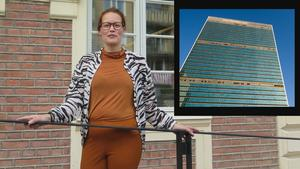 Erika Omma Unnes arbetar för Gaaltje och hon är i New York för att delta vid ett språkevent. Foto: Arkiv/TT