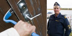 Foto vänster: Henrik Montgomery / TT. Till höger: Kommunpolisen Carola Wiklund. Foto: Sara Borg