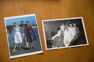 """Bilden till vänster är från första gången Yvonne och Peter träffades. Då var också hennes tvillingsyster Ingalill med. Bilden till höger är från Peters andra besök i Sverige. """"Det är två tjejer från Sverige som kommer möta oss"""" berättade han för sin vän som snabbt valde att följa med."""