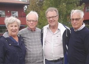 Finalisterna Monica Nilsson, Bertil Andersson (slutsegrare), Sven-Olof Andersson och Göran Falkerby. Foto: Britt Marie Ekberg