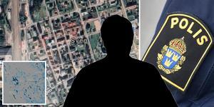 Gripandet av mannen skedde i anslutning till bostaden. Fotomontage: Google maps/TT