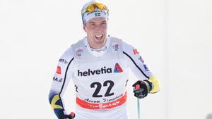 Calle Halfvarsson var tillbaka efter magproblemen och slutade tvåa i prologen. Bild: TT.