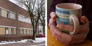 """""""Jag har ringt min vårdcentral och bett om hjälp med en samtalskontakt. Vårdcentralen hänvisar tillbaka till psykiatrin eftersom jag är inskriven där och att de på vårdcentralen har inte den kompetens som jag behöver"""", berättar Terese. Montage, vuxenpsykiatrin i Köping och Terese händer."""