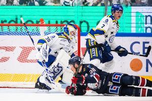 Janne Juvonen kom in i ställer för Axel Brage till den andra perioden. Bild: Bildbyrån