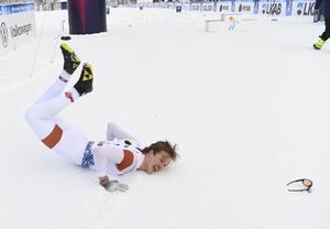 Olle Jonsson efter segern i Gällivare Foto: Fredrik Sandberg/TT.