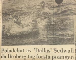 I juli 1962 kom Brobergs första fullpoängare då Grängesberg besegrades med 9–4. Söderhamnskuriren noterade självklart att en viss