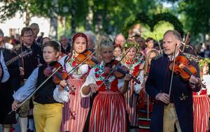 Bilden är tagen i Leksand på midsommaraftonen. Foto: Thomas Nordström