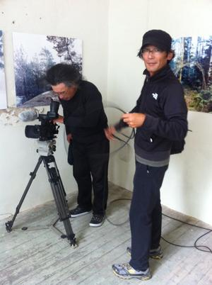 Det japanska tv-teamet i Nora.