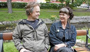 Erik Åberg och Monica Fahrman. Foto: Hans Godén