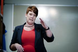 Maria Strömkvist (S) var tydlig med att det behövs fler bostäder i Ludvika, och att utmaningen ligger i att få ner byggkostnaderna.