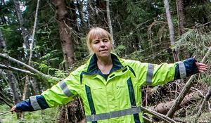 Maria Björck, arkeolog i Gävleborg. Arkivbild