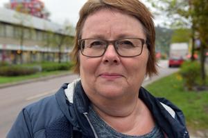 Monika Sandström, Husum: – Jag har faktiskt ingen åsikt om tiggeri.
