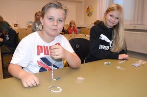 Emil Edvardsson och Clara Söderlind i 3B tyckte att dagen om diabetes var lärorik.