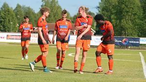 Måljubel och segerdans för Ytterhogdal efter 3–0 mot IFK Umeå.
