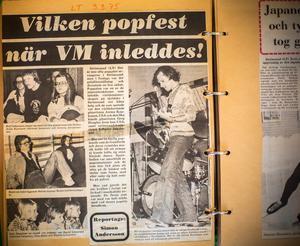 Ett klipp ur Länstidningen från spelningen i sporthallen i Strömsund.