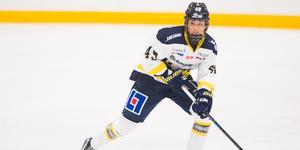 Fanny Rask i HV-dressen. Nu stängs hon av i sju matcher, och missar samtliga utom den sista matchen i grundserien för säsongen. Bild: Dennis Ylikangas/Bildbyrån.