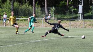 Sermed Habib skapade mycket från sin vänsterkant. I första halvlek satte han 1-0 (se bilden) och spelade även fram till 2-1.