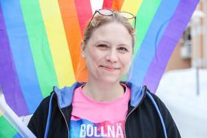 Emelie Lundin, ordförande Bollnäs Pride.