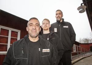 BIlly Petersson, Tord Jarendal och Dennis Petersson jobbar i flyttfirman Lika som bär.