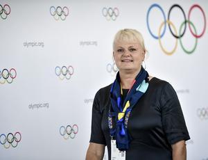 Anette Norberg innan omröstningen. Bild: Stina Stjernkvist / TT