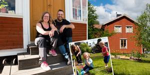 Emma och Andreas Libell flyttade in i huset i Domsjö i augusti 2018.