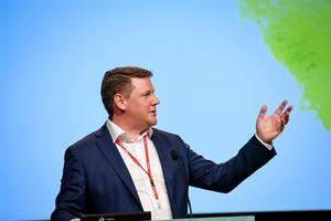 Tobias Baudin, förbundsordförande Kommunal.Foto: Marcus Ericsson / TT