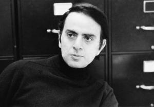 Den berömde astronomen Carl Sagan 1973. Foto: AP