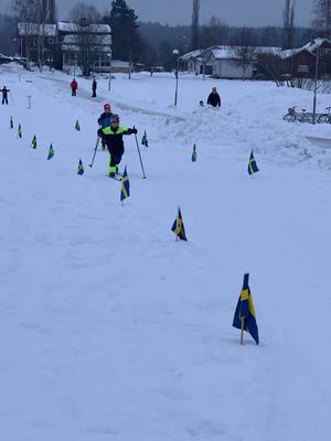 Vissa elever valde att åka mer än ett varv. Foto: Linda Hasselqvist