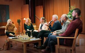 Från vänster: Linda Norlander Frisk, Jenny Samuelsson, Maria Oldenmark, Staffan Westerlund(H-sand KKV), Mats de Vahl (Ö-vik KKV), och Emil Österholm (Ålsta FH).