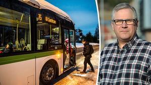Hans Fälldin, administrativ chef på Din tur, hoppas att bussarna i länet ska gå som vanligt under fredagen.