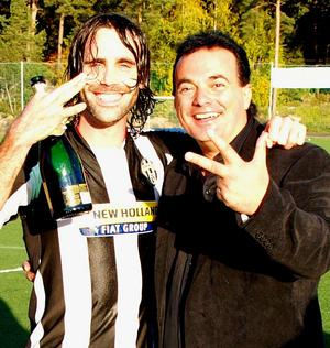 Tim Ritter och tränaren Franco Pertunaj.