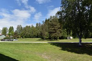 Området bakom Parkskolan.