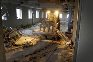 Rivningen av NT's gamla lokaler är i full gång.