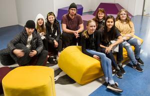 Eleverna Mille Wallin, Isabella Michaelsen, Tove Björklund, Tuva Norén, Angelina Carrasco och Agnes Larsson jobbade tillsammans med It-teknikern Simon Östberg och museets Ulrika Wängman.