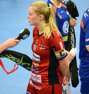 Örnsköldsviks lagkapten Lovisa Nilsson var väldigt belåten med lagets insats. Bild: Louay Shameh