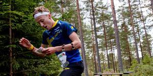 Det slutade med en fjärdeplats för Emil Svensk. Foto: TT.