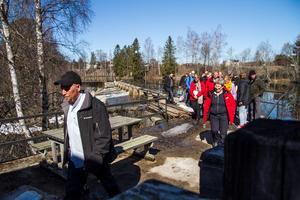 Mark- och miljödomstolen höll syn på Vade kraftverk, Bergsjö på tisdagen.