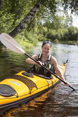 Camilla Vargman bor på Västkusten men tillbringar somrarna  i Dala-Floda och paddlar gärna i Lisselälven.
