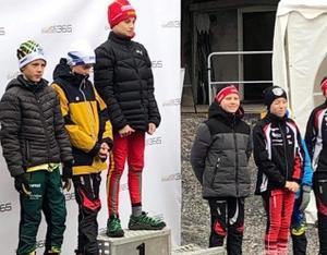 Jonas Matyyuk, Svegs IK, tog förstaplatsen i H12-13 när det var skidskyttepremiär i Gällös skidtunnel.