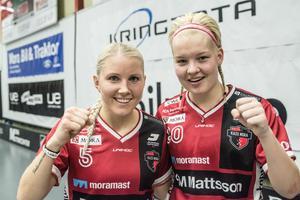 Anna Wijk och My Kippilä var mycket glada efter en skön 6–2-seger hemma mot Pixbo i seriefinalen.