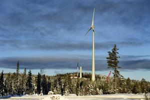 Vindkraftverk utanför Piteå.