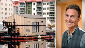 Magnus Sandebree är vd på Imorgon Innovation som äger det flytande huset.