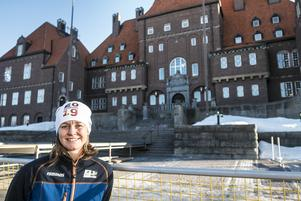 Marlene Ström är pressansvarig under skidskytte-VM i Östersund.