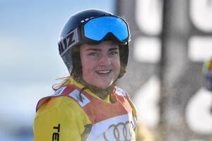 Alexandra Edebo på att ta en OS-plats.