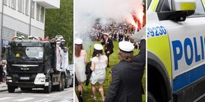 Bilderna är från tidigare års firanden och personerna som syns är inte de som åtalats.